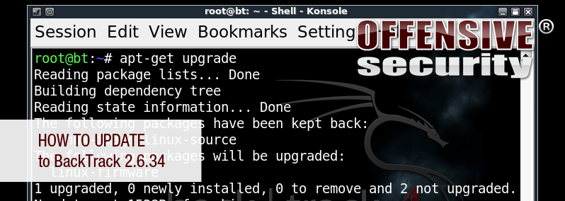 How to Update to BackTrack 2.6.34