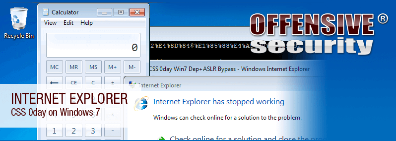 Internet Explorer 0day