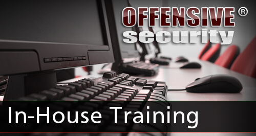 Offensive Security In-House Training