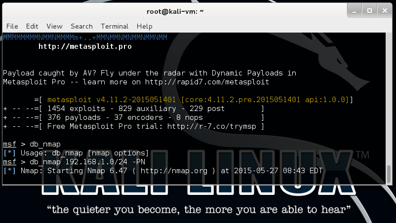 vulnerability scanning - metasploit unleashed