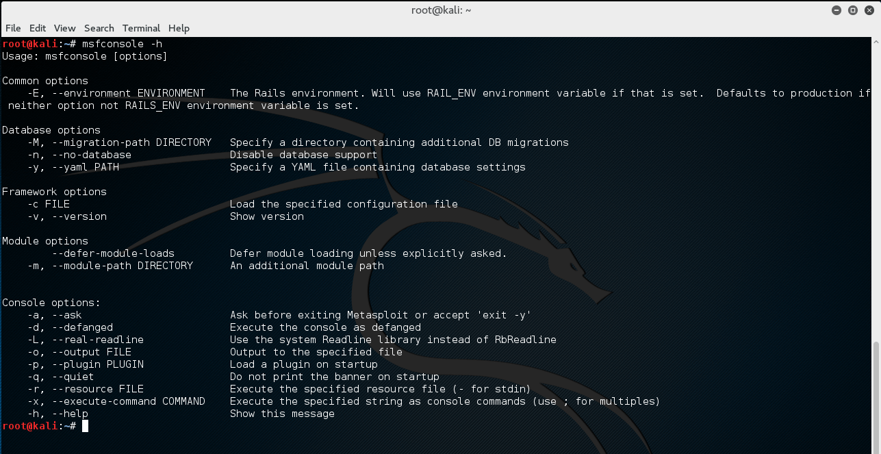 Msfconsole - Metasploit Unleashed