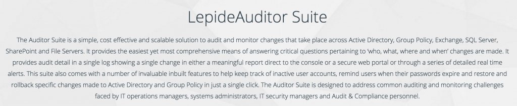 LeptideAuditor Suite Introduction