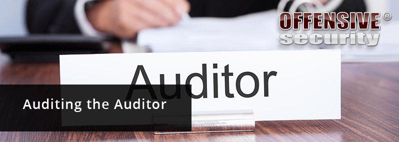 auditing the auditor