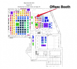 offsec booth at Blackhat USA 2019