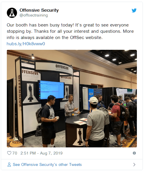 Offensive Security Booth at BlackHat USA