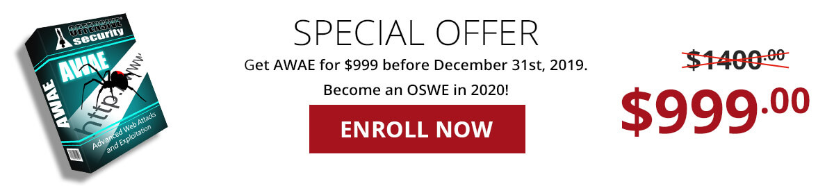AWAE is $999 from now until December 31!