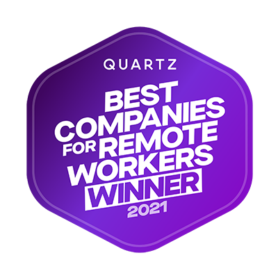 Quartz Best Companies for Remote Workers 2021